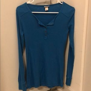 Bright Blue Henley Tee